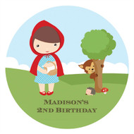 Little Red Riding Hood Party Personalised Party Labels & Stickers & Stickers