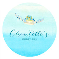 Sea Turtle Under the Sea Personalised Party Labels & Stickers & Stickers.