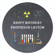 Chemistry Science Party Personalised Party Labels & Stickers & Stickers.