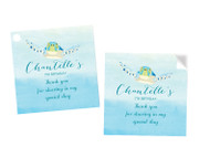 Sea Turtle Under the Sea Party Personalised Square Labels, Square Stickers and Square Tags.