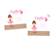 Ballet Party Personalised Party Stickers, Labels and Tags.