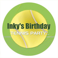 Tennis Birthday Party Personalised Stickers & Labels