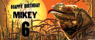 Reptile Party Personalised Birthday Banner.