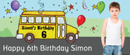 Party Bus Personalised Birthday Banner.