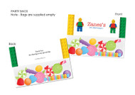 Lego Themed Personalised Party Lolly Bags