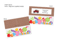 Vintage Fire Truck Personalised Party Favour Lolly Bags.