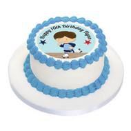 Boys Roller Skating Birthday Cake Icing