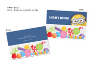 Minion Inspired Personalised Party Lollybags & Favour Bags.
