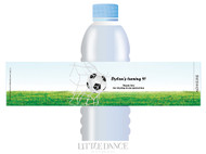 Soccer Personalised Water bottle labels.