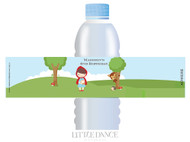 Little Red Riding Hood Personalised Water bottle labels.
