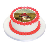 Vintage Toadstool Birthday Cake Icing