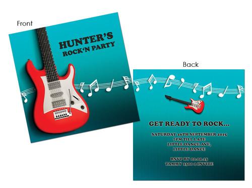 Grown ups birthday invitations electric guitar electric guitar rock n roll party invitation filmwisefo