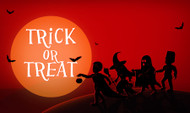 Halloween Trick or Treat Party Banner