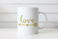 Golden Love Arrow Coffee Mug