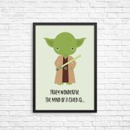 Yoda from Star Wars Inspired Wall Art Prints