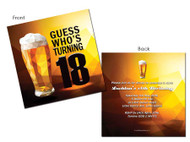 Beer 18th Birthday Invitations