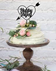 Custom Wedding Cake Topper - Names in Heart. Personalized acrylic cake wedding cake decoration.