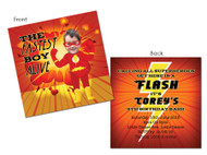 Flash Superhero Party Invitations
