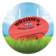 AFL Football Personalised labels