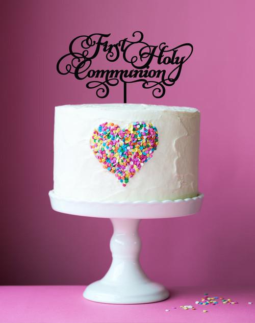 Custom Wedding Cake Topper Names In Heart Personalized