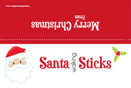 Santa sticks party bag toppers. Novelty Christmas favor bag toppers