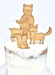 Woodlands themed Cake decorator kit