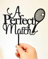 A Perfect Match Tennis Wedding Cake Topper