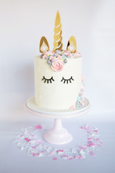 Unicorn cake toppers