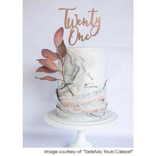 Twenty First Birthday Cake Topper