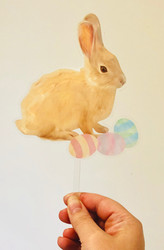The Real Easter Bunny acrylic cake topper