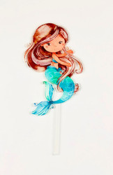 Mermaid Acrylic cake topper