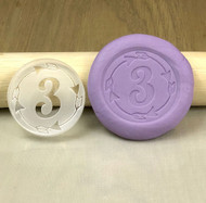 Custom Age cookie and fondant stamp