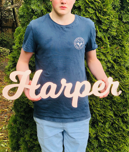 Large lasercut word cutout name