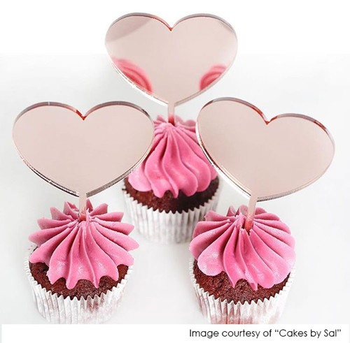 Little heart cupcake toppers