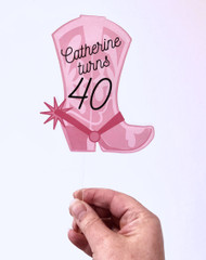Custom Cowgirl Boot Printed acrylic cake topper