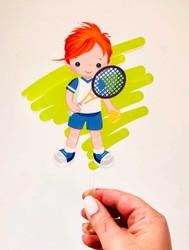 Tennis sports boy cake topper