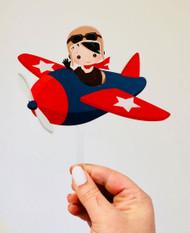 Pilot acrylic cake topper