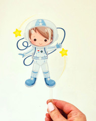 Astronaut space acrylic cake topper