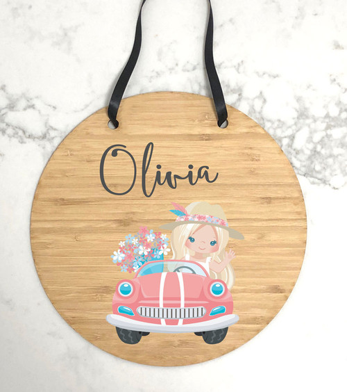Girls bedroom wall hanging sign