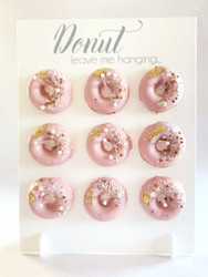 Donut wall stand - white acrylic