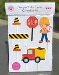 Construction, Building themed cake decorating kit