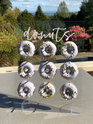 Clear acrylic donut wall stand
