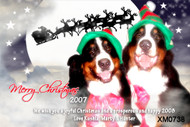 Personalised photo Christmas card for sale online - Pet photo and Santa Sleigh