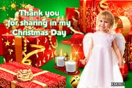 Christmas presents themed photo Christmas card. Australian website