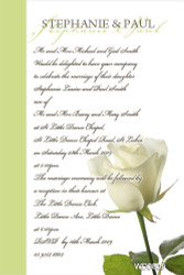 Single White Rose Wedding Invitation