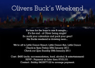 Bucks Weekend Invitations