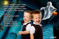 Spooky themed personalised Halloween party photo invitation.