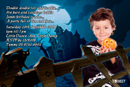 Spooky themed kids party invitation. Printed and printable versions for sale online in Australia