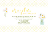 Daisies Baby Shower Invitations