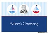 Sailboat Nautical Themed Baptism Christening Cake Icing